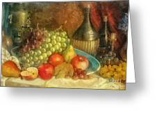 Apples And Grapes Greeting Card