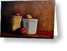 Apples And Jars Greeting Card