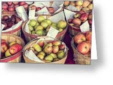 Apples And Pears For Sale Greeting Card