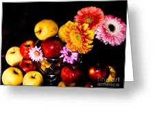 Apples And Suflowers Greeting Card