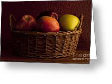 Apples In Basket Greeting Card