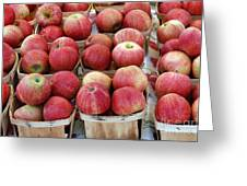Apples In Small Baskets Greeting Card