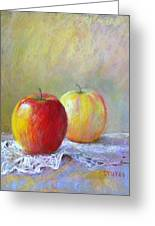 Apples On A Table Greeting Card