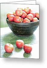 Apples On The Table  Greeting Card