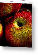 Apples Two Greeting Card by Bob Orsillo