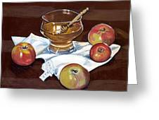 Apples With Honey Greeting Card