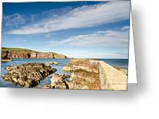 Approach To St Abbs Harbour Greeting Card