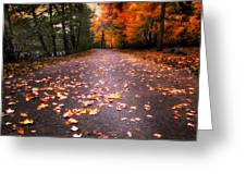 Approaching Autumn Greeting Card
