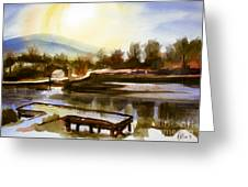 Approaching Dusk IIb Greeting Card by Kip DeVore