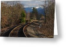 Approaching Grants Pass 1 Greeting Card