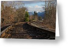 Approaching Grants Pass 2 Greeting Card
