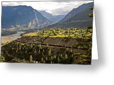 Approaching Lillooet Greeting Card