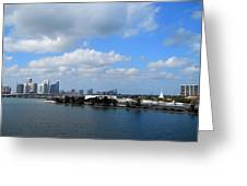 Approaching Miami Greeting Card