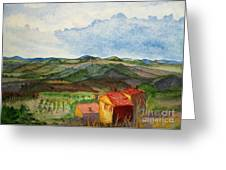 Approaching Montepulciano Greeting Card