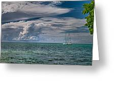 Approaching Storm At Whale Harbor Greeting Card