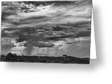 Approaching Storm Black And White Greeting Card by Douglas Barnard