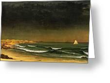 Approaching Storm Near Newport Beach Greeting Card by Martin Heade