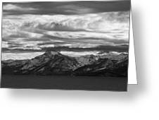 Approaching Storm Over Lake Tahoe Greeting Card