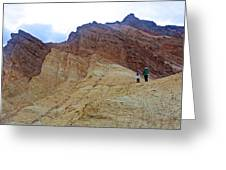 Approaching The Jagged Peaks In Golden Canyon In Death Valley National Park-california  Greeting Card