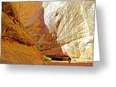 Approaching The Shadow In Grand Wash In Capitol Reef National Park-utah Greeting Card