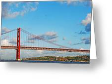 April 25th Bridge In Lisbon Greeting Card