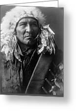 Apsaroke Indian Man Circa 1908 Greeting Card