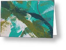 Aqua And Green Greeting Card