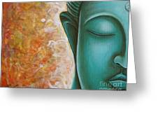 Aqua Buddha Greeting Card