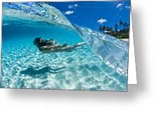 Aqua Dive Greeting Card