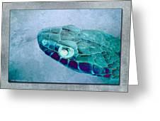 Aqua Serpent Greeting Card