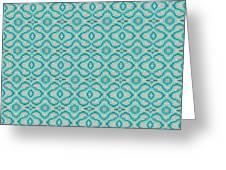Aqua X Arrangement Greeting Card