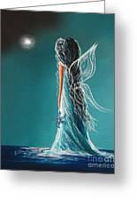 Aquamarine Fairy By Shawna Erback Greeting Card by Shawna Erback