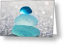 Aquamarine Ice Light Greeting Card