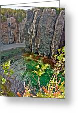 Aquamarine Water In Trinity Bay Near Skerwink Trail-nl Greeting Card