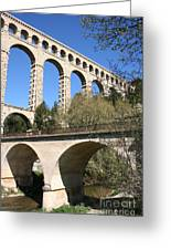 Aqueduct Roquefavour Greeting Card
