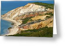 Aquinnah Clay Cliffs Marthas Vineyard Greeting Card