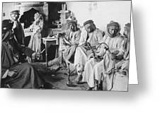 Arab Men At Leisure Greeting Card