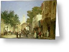 Arab Street Scene Greeting Card