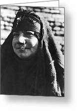 Arab woman with nose ring canvas print canvas art by underwood arab woman with nose ring greeting card m4hsunfo