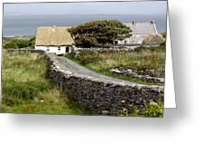Aran Cottage Greeting Card
