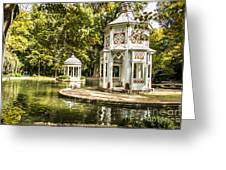 Aranjuez Park Lake Greeting Card by Stefano Piccini