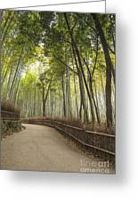 Arashiyama Kyoto Japan Greeting Card by Colin and Linda McKie