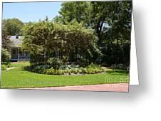 Arbor At Historical Park Greeting Card