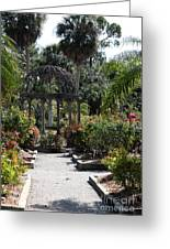 Arbor In The Rose Garden Greeting Card