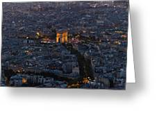 Arc De Triomphe From Above Greeting Card