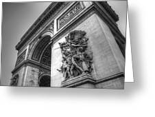 Arc De Triomphe In Black And White Greeting Card