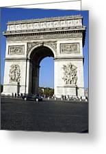 Arc De Triomphe In Paris France Greeting Card