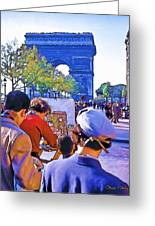 Arc De Triomphe Painter Greeting Card by Chuck Staley