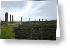 Arc Of Stones At The Ring Of Brodgar Greeting Card