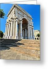 arc of triumph in Piazza Della Vittoria - Genova Greeting Card